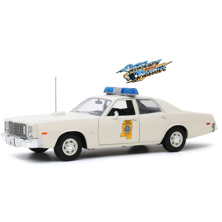 Smokey and the Bandit 1975 Plymouth Fury - Mississippi Highway Patrol 1:18 Scale Diecast Model by Greenlight Main Image