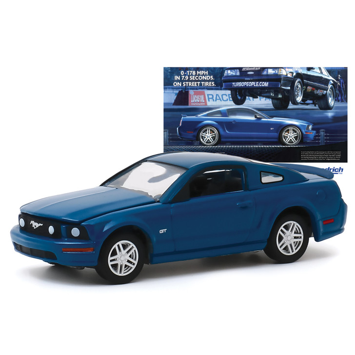 2009 Ford Mustang GT 0-178 MPH In 7.9 Seconds. On Street Tires 1:64 Scale Diecast Model by Greenlight Main Image