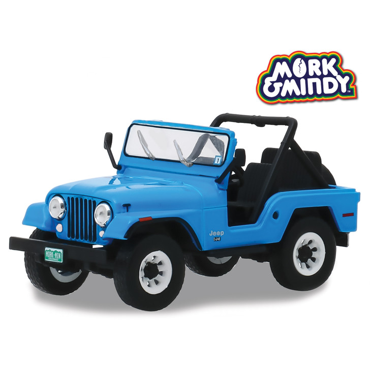 Mork & Mindy 1972 Jeep CJ-5 1:43 Scale Diecast Model by Greenlight Main Image