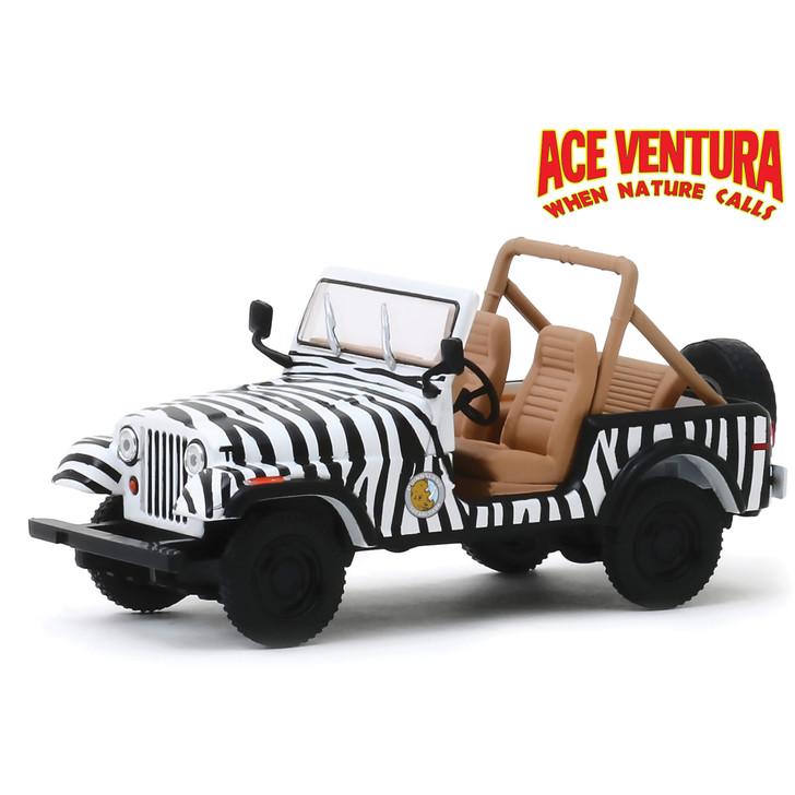 Ace Ventura 1976 Jeep CJ-7 -When Nature Calls 1:43 Scale Diecast Model by Greenlight Main Image