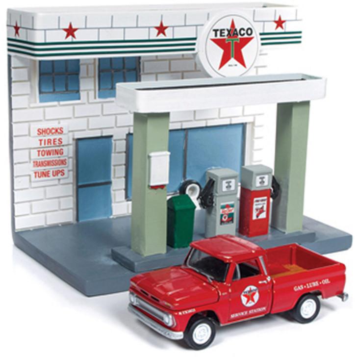 Texaco Service Station Diorama & 1965 Chevy Pickup Main Image
