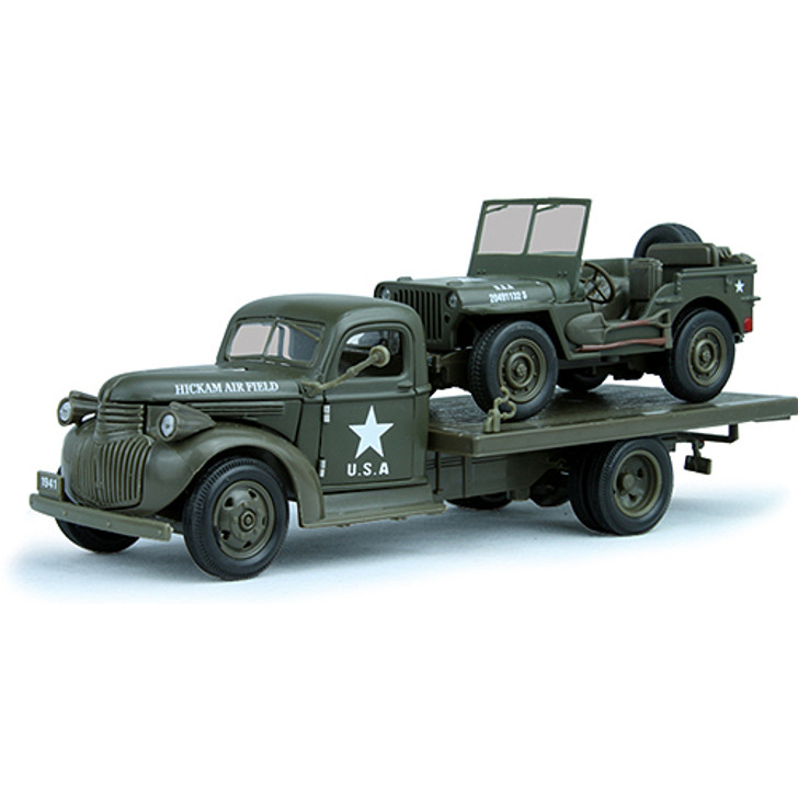 U.S. Army Air Corp Chevy Flatbed & Jeep Main Image