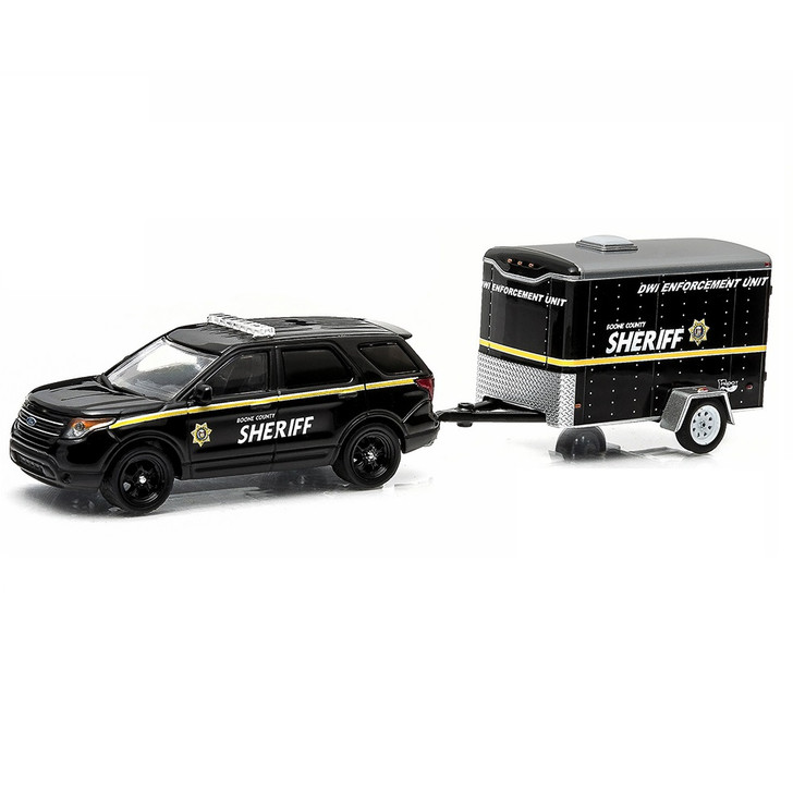 Greenlight 1/64 Hitch & Tow Sries 3 Ford Sheriff with DWI Trailer Main Image