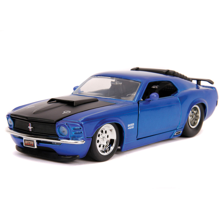 1970 FORD MUSTANG BOSS 429 - Blue 1:24 Scale Diecast Model by Jada Main Image