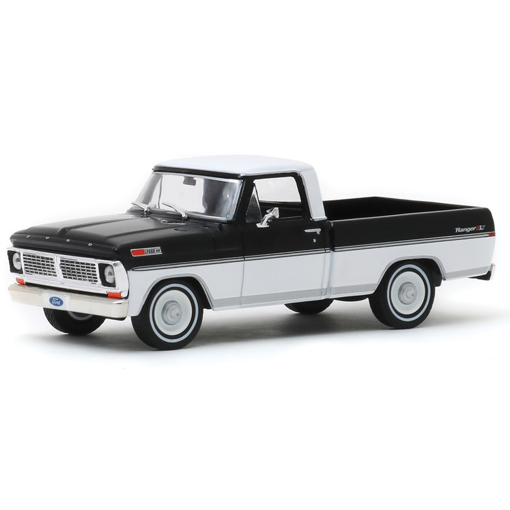 1970 Ford F-100 - Raven Black and Pure White 1:43 Scale Diecast Model by Greenlight Main Image