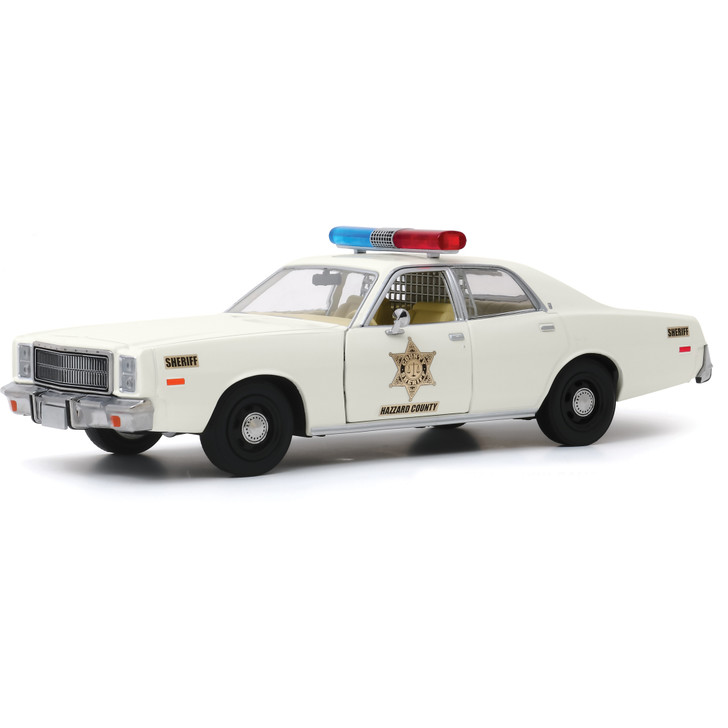 1977 Plymouth Fury - Dukes of Hazzard County Sheriff 1:24 Scale Diecast Model by Greenlight Main Image