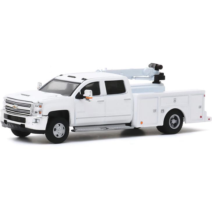 2016 Chevrolet Silverado 3500 Dually Crane Truck 1:64 Scale Diecast Model by Greenlight Main Image