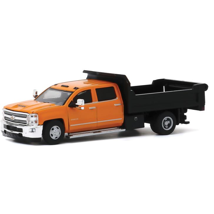 2017 Chevrolet Silverado 3500 Dually Dump Truck 1:64 Scale Diecast Model by Greenlight Main Image
