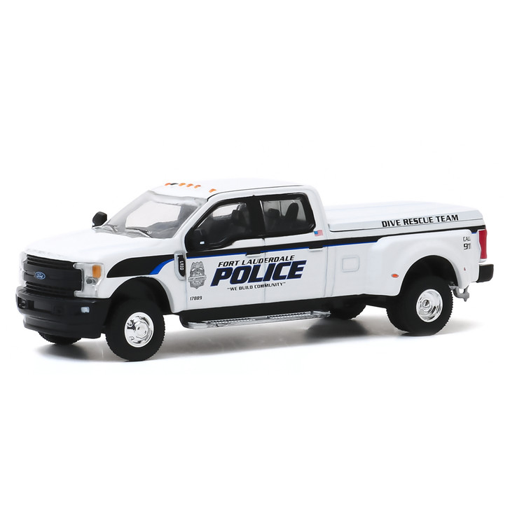 2019 Ford F-350 Dually - Fort Lauderdale Police Dive Team 1:64 Scale Diecast Model by Greenlight Main Image