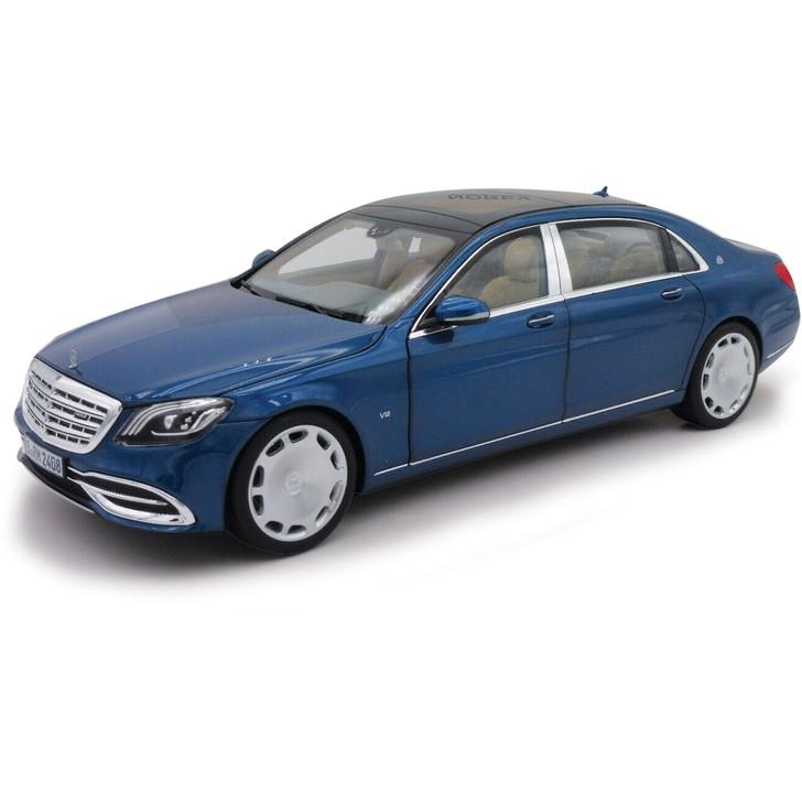 2018 Mercedes-Maybach S650 Sedan - Metallic Blue 1:18 Scale Diecast Model by Norev Main Image