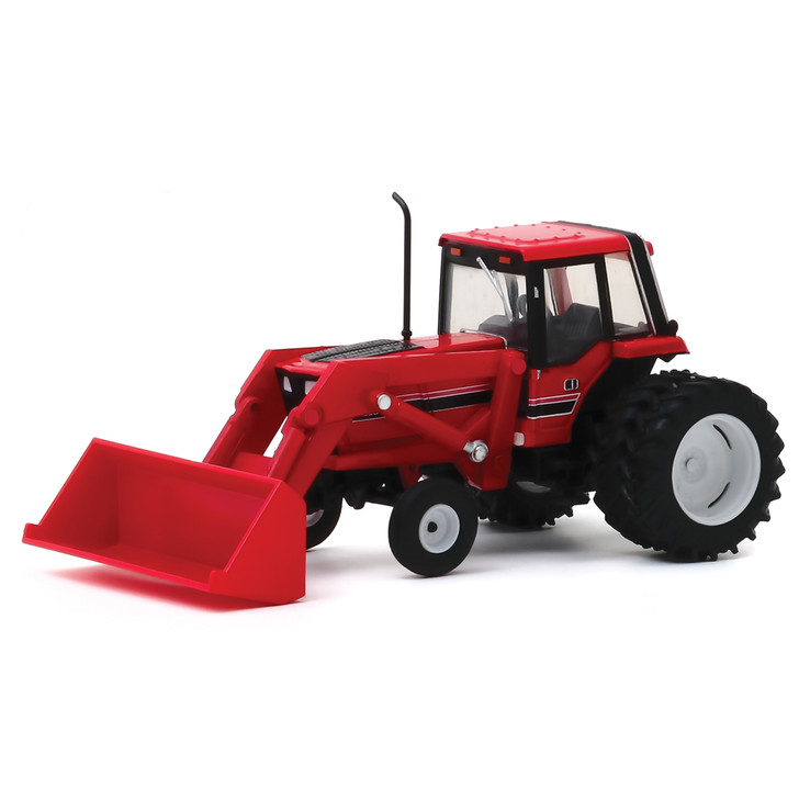 1982 Tractor - Red and Black with Front Loader and Dual Rear Wheels Main Image