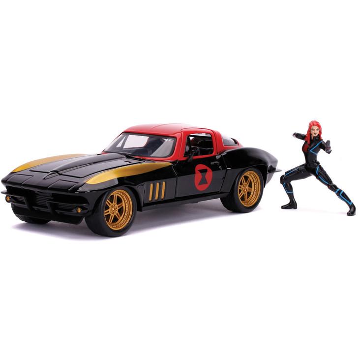 1963 Corvette with Black Widow Figure Main Image