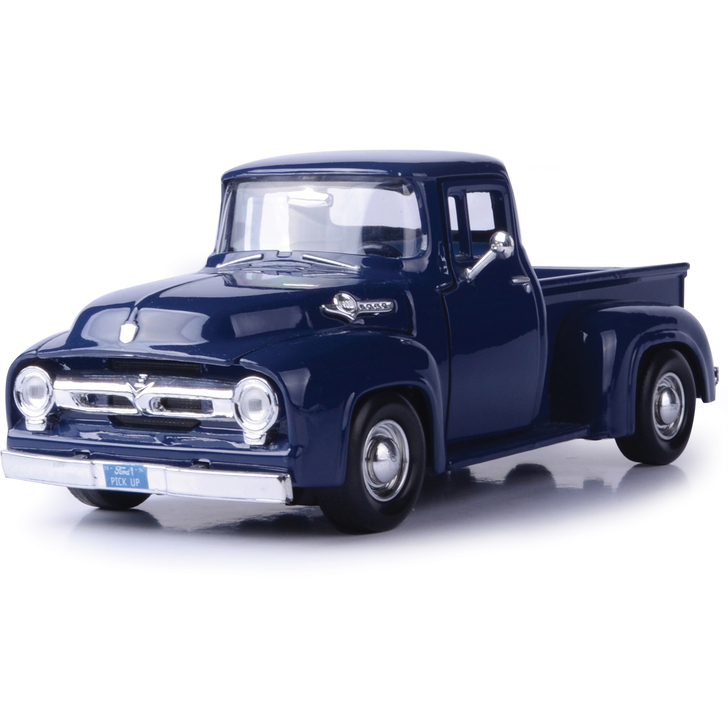 1956 Ford F-100 Pickup - Dark Blue 1:24 Scale Diecast Replica Model