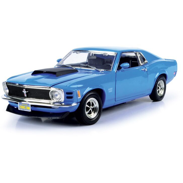 1970 Boss 429 Mustang - Blue 1:18 Scale Diecast Replica Model