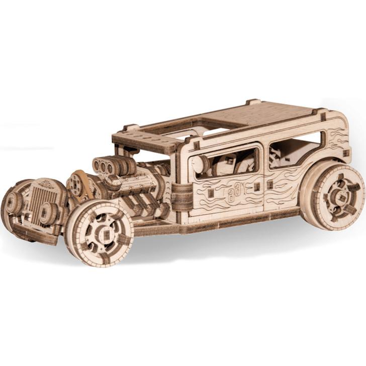 Hot Rod Mechanical Wooden Model Main Image