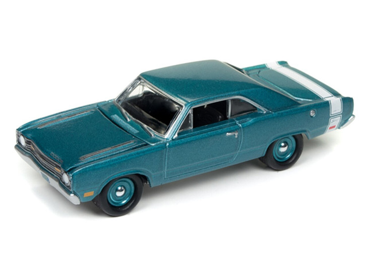 Johnny Lightning 164 Die Cast 1969 Dodge Dart Light Turquoise Poly with White Stripes 164 Scale Diecast Model by Johnny Lightning JLMC011/24A