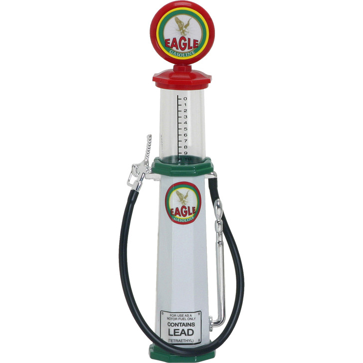 Eagle Cylinder Style Vintage Gas Pump 1:18 Scale Diecast Replica Model