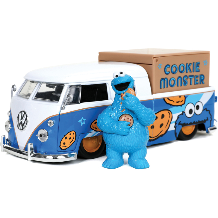VW Pickup & Cookie Monster Figure with Sound Effects Main Image
