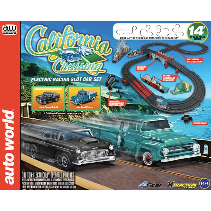 The Pacific Coast Highway Race Set with 1956 Ford F-100 Pickup Truck & 1955 Chevrolet Bel Air Main Image