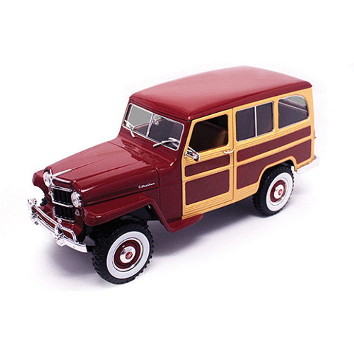 1955 Willys Jeep 4x4 Wagon - red woody Main Image