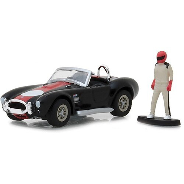 Greenlight 1965 Shelby Cobra with Race Car Driver 164 Scale Diecast Model by Greenlight 18222NX