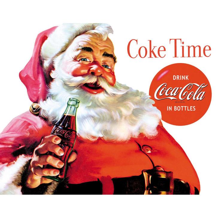 Holiday Santa Coca-Cola Metal Sign Main Image