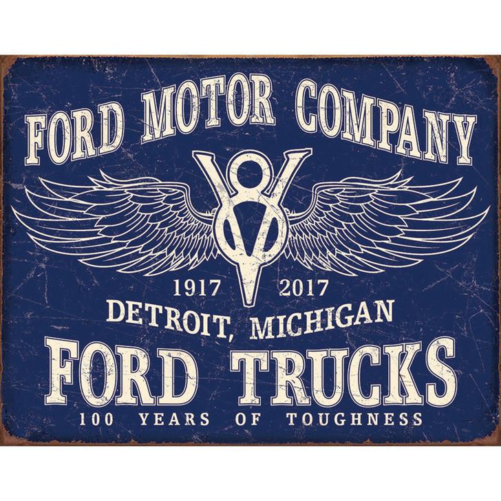 Ford  V-8 Trucks 100 Years Metal Sign Main Image