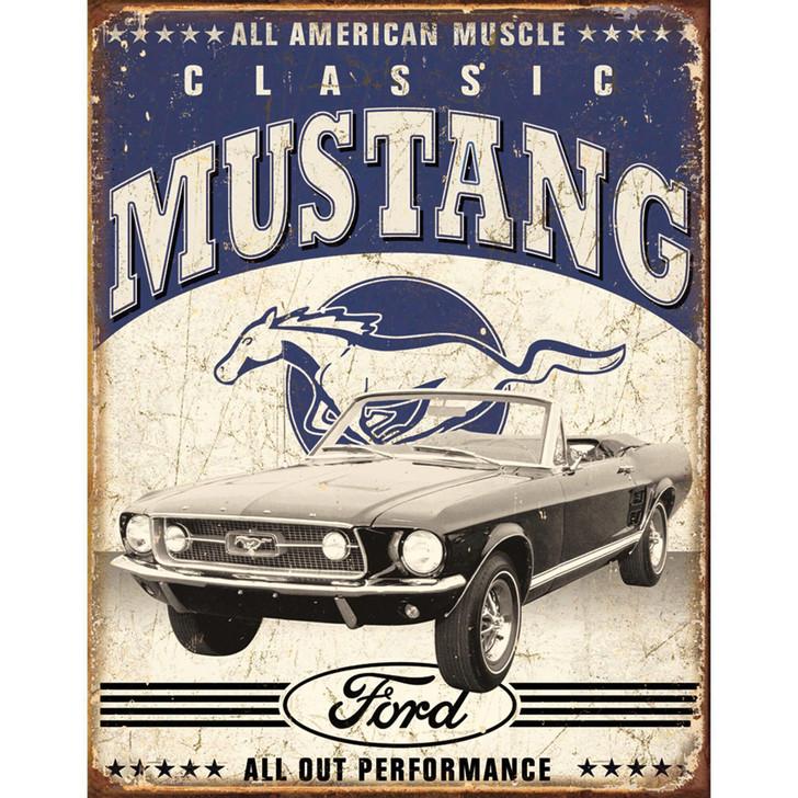 Classic Mustang Metal Sign Main Image