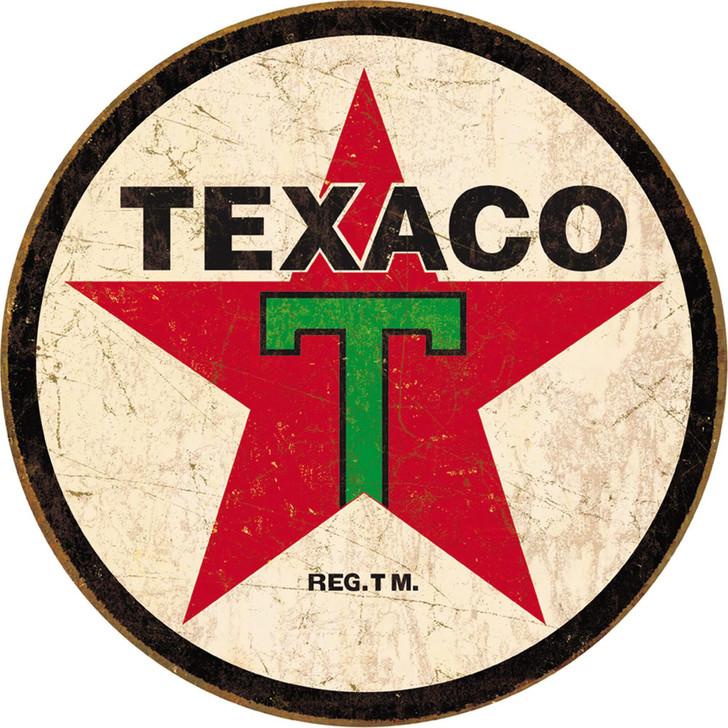 Texaco Weathered Metal Sign Main Image