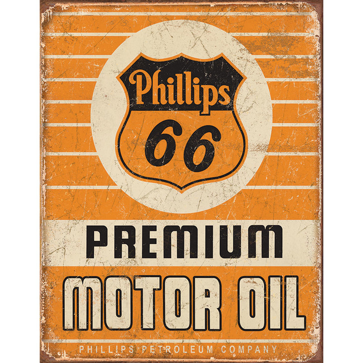Phillips 66 Motor Oil Weathered Metal Sign Main Image