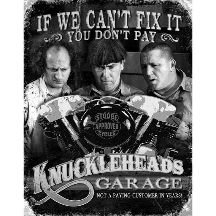 Three Stooges Knucklehead Garage Metal Sign Main Image