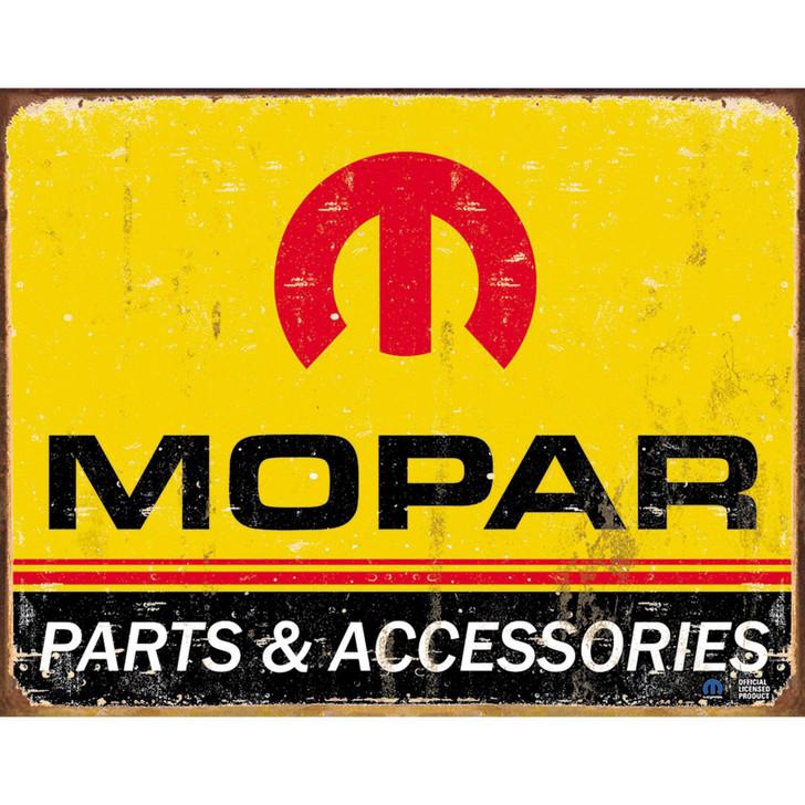 MOPAR Parts Weathered Metal Sign Main Image