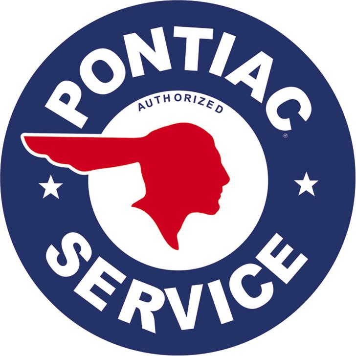 Pontiac Service Metal Sign Main Image