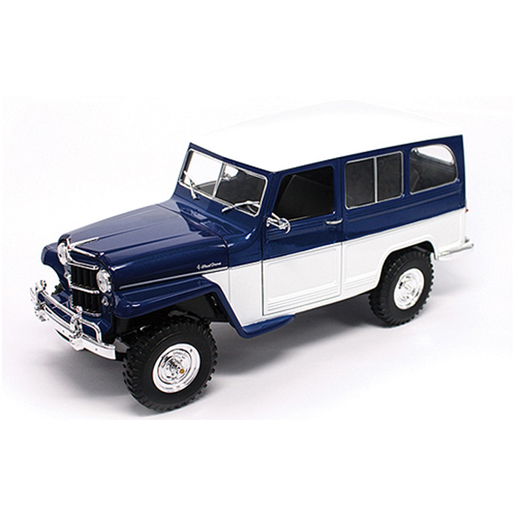 1955 Willys Jeep 4x4 Utility Wagon - blue Main Image