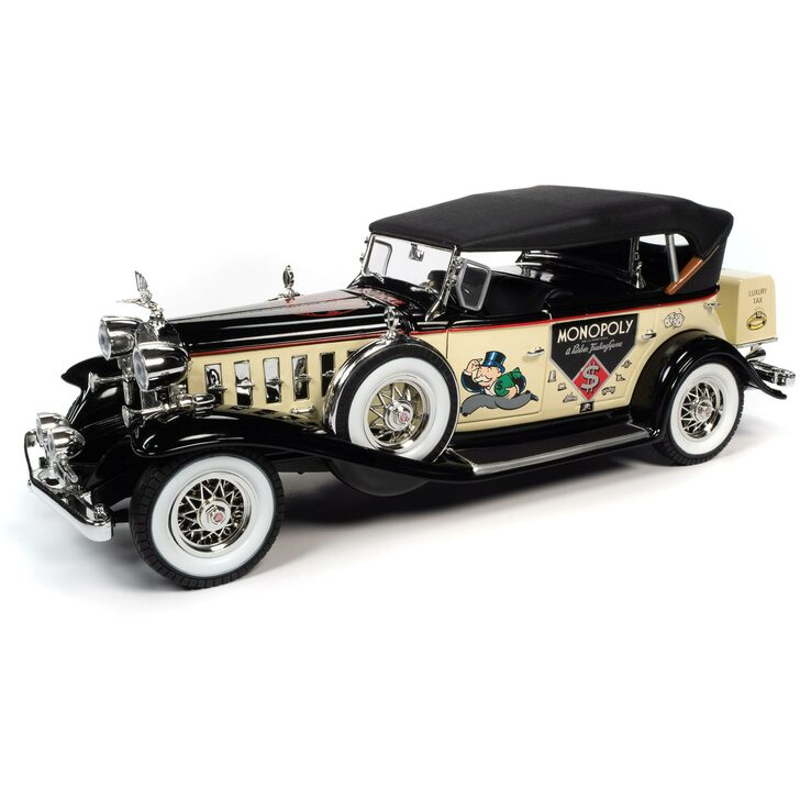 1932 Monopoly Cadillac V-16 Sport Phaeton & Mr. Monopoly Figure Main Image