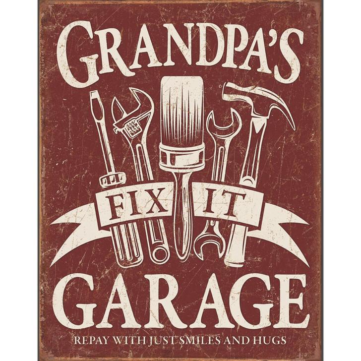 Grandpa's Garage Wall Art Main Image
