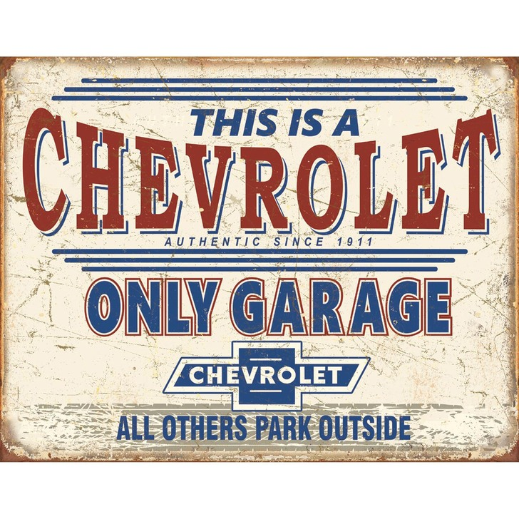 Chevy Only Garage Wall Art Main Image