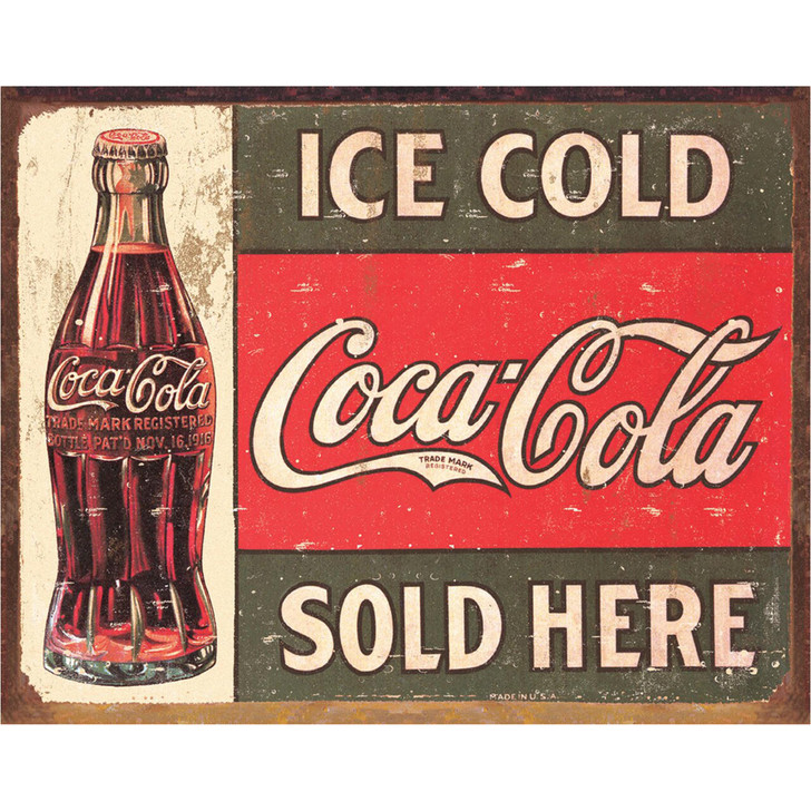 Ice Cold Coca-Cola Sold Here Wall Art Main Image