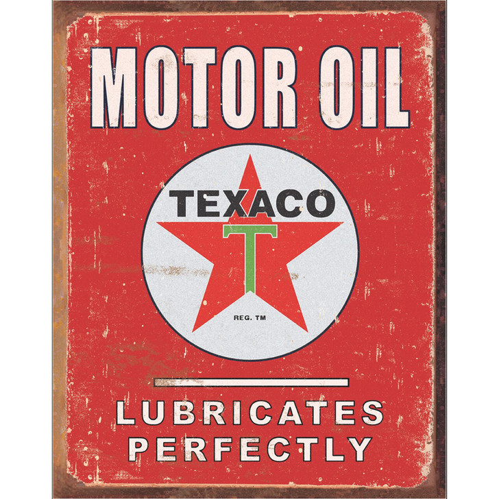 Texaco Motor Oil Lubricates Perfectly Wall Art Main Image