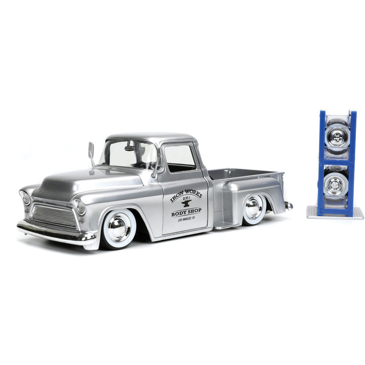 1955 Chevy Stepside Pickup with Tire Rack - Just Trucks Main Image