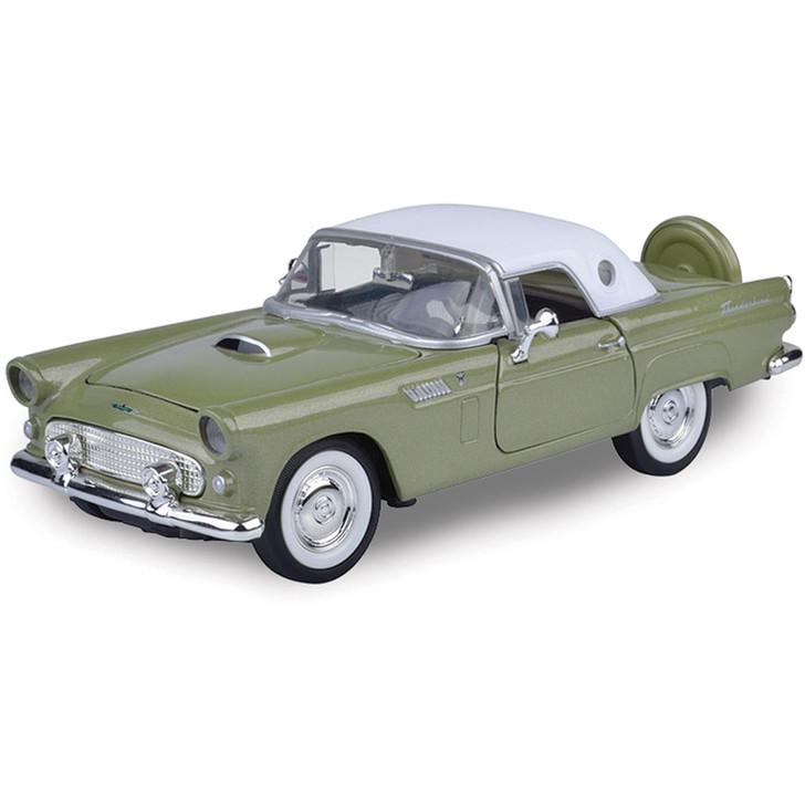 1956 Ford T-Bird (Hardtop)-Light Emerald Green  w/ White Top Main Image
