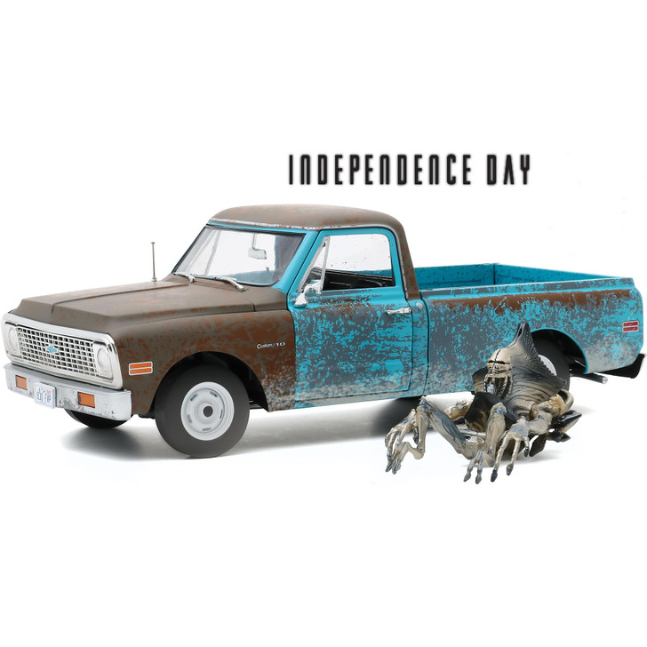 Independence Day 1971 Chevrolet C-10 with Alien Figure Main Image