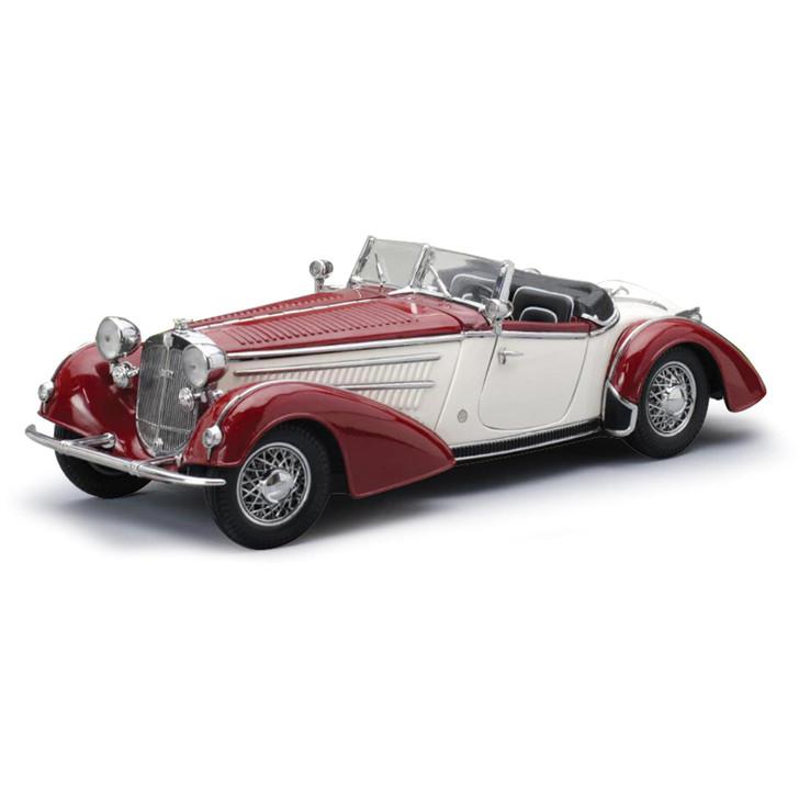 1939 HORCH 855 ROADSTER - Dark Red/Cream Main Image