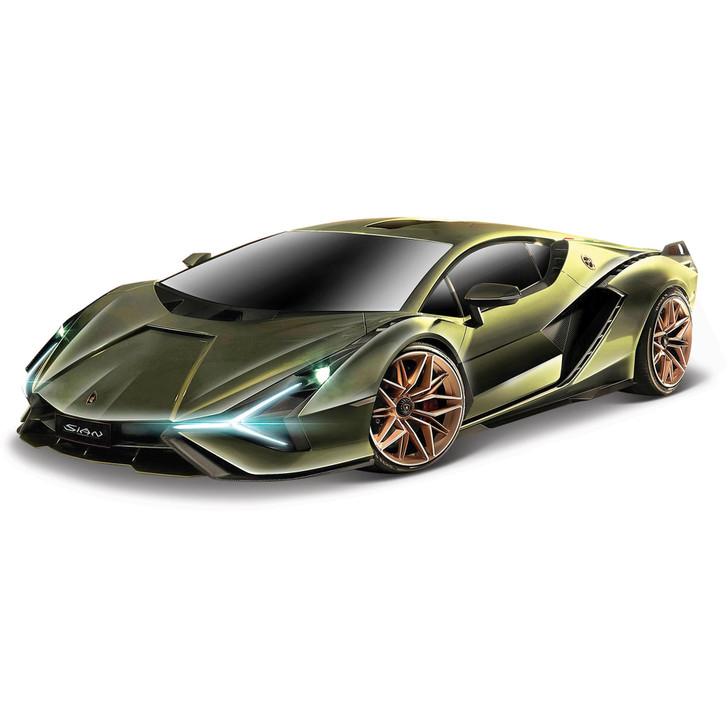 Lamborghini Sián FKP 37 - Green 1:24 Scale Diecast Model by Bburago Main Image