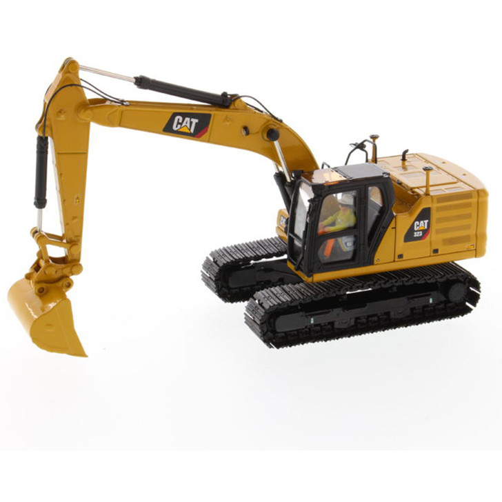 Caterpillar CAT 323 Hydraulic Excavator with 4 new work-tools - Next Generation 1:50 Scale Diecast Model by Diecast Masters Main Image