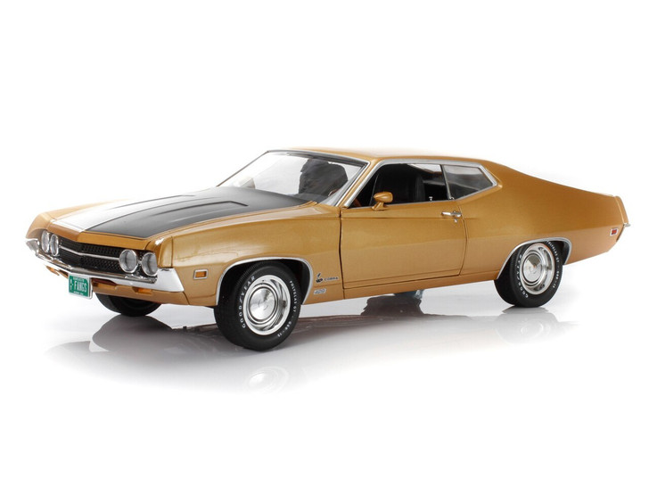 Auto World 1970 Ford Torino Cobra LIMITED QUANTITY 118 Scale American Muscle Series Bright Gold 118 Scale Diecast Model by Auto World AMAMM1039/06GO