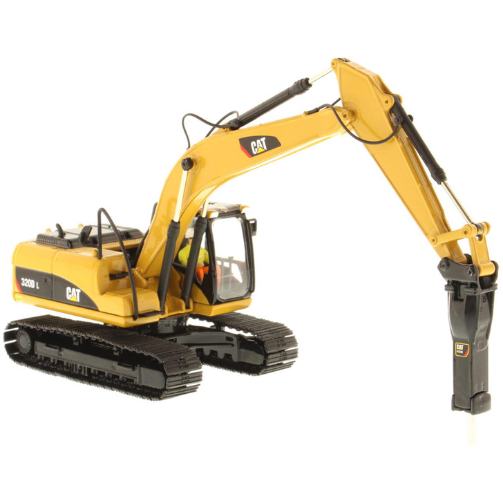 Caterpillar CAT 320D L Hydraulic Excavator with hammer 1:50 Scale Diecast Model by Diecast Masters Main Image