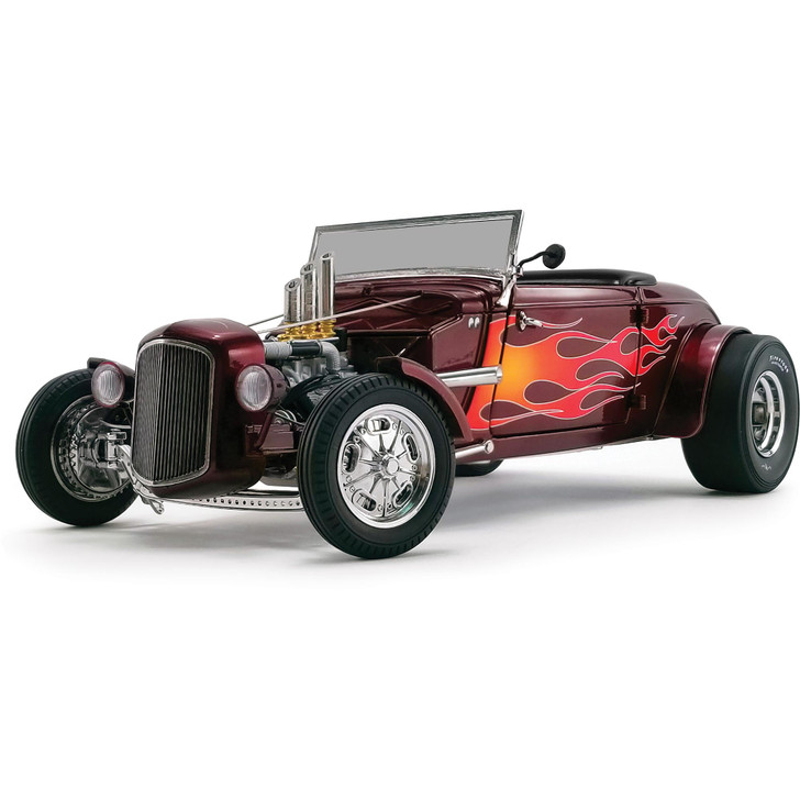 1934 Hot Rod Roadster with Flames 1:18 Scale Diecast Model by GMP Main Image