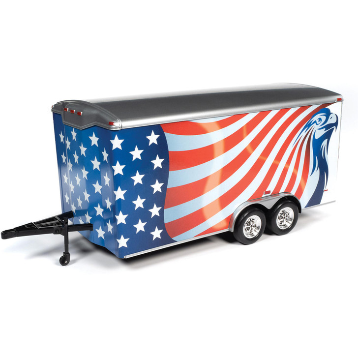 1:18 Enclosed Trailer - Red White and Blue 1:18 Scale Diecast Model by American Muscle - Ertl Main Image