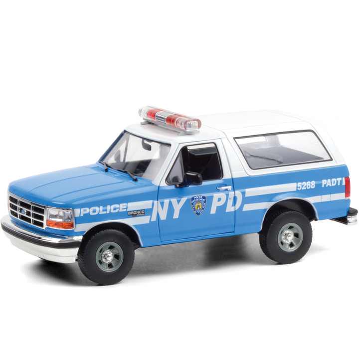 1992 Ford Bronco - New York City Police Department 1:18 Scale Diecast Model by Greenlight Main Image